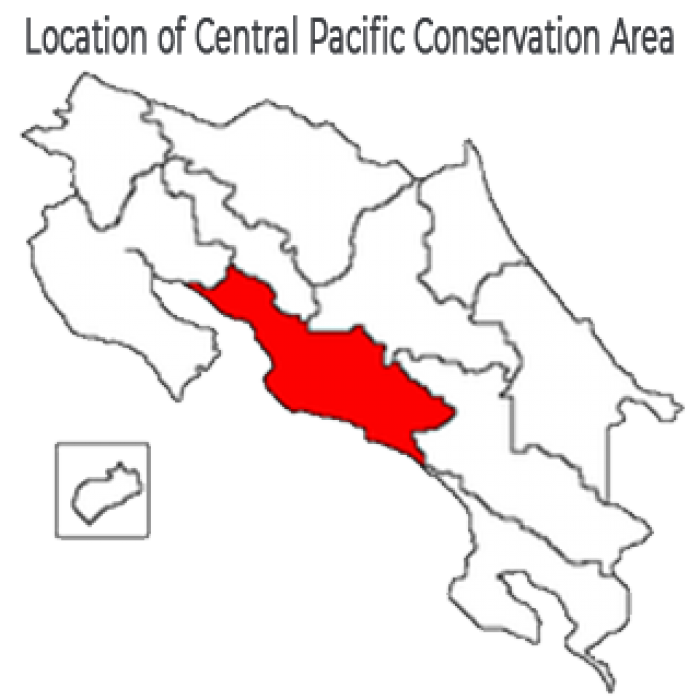 Costa Rica Cangrejal - Central Pacific Conservation Area Map